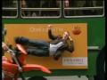Человек вмонтироанный в борт автобуса