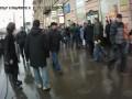 Драка митингующих с ОМОНом в Питере.