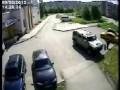 Мужик сжигает HUMMER в Череповце
