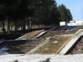 Ступеньки в одном из парков Омска превратились в «водопад»