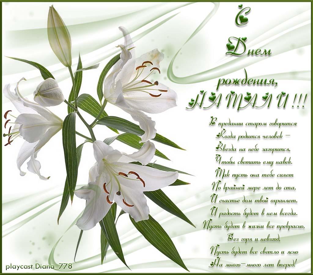 стихи поздравление с днем рожденья лилия что
