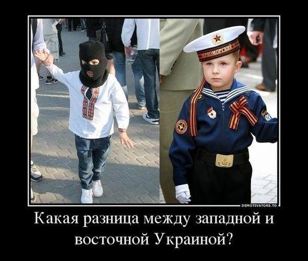 Запад и Восток Украины