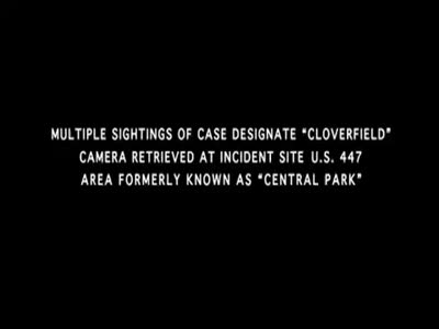 CLOVERFIELD Theatrical trailer!