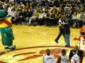 Raptors and Celtics Mascot Dance-Off