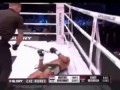 Fans attack kickboxer Murthel Groenhart in the ring after controversial knockout.